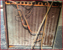 Unmaintained, dirty evaporator coil