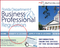 MyFlorida.com Contractor License Database